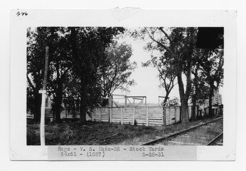 Atchison Topeka & Santa Fe Railway Company stock pens, Rago, Kansas - Page