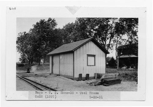 Atchison Topeka and Santa Fe Railway Company tool house, Rago, Kansas - Page