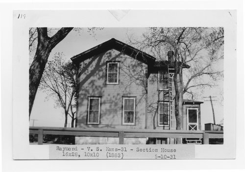 Atchison Topeka & Santa Fe Railway Company section house, Raymond, Kansas - Page
