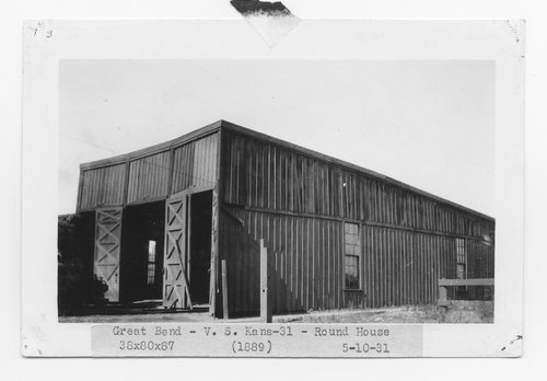 Atchison, Topeka & Santa Fe Railway Company round house, Great Bend, Kansas - Page