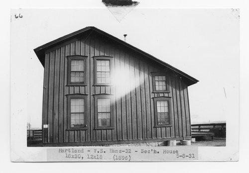 Atchison, Topeka & Santa Fe Railway Company section house, Hartland, Kansas - Page