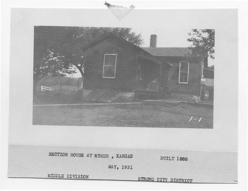 Atchison, Topeka & Santa Fe Railway Company section house, Hymer, Kansas - Page