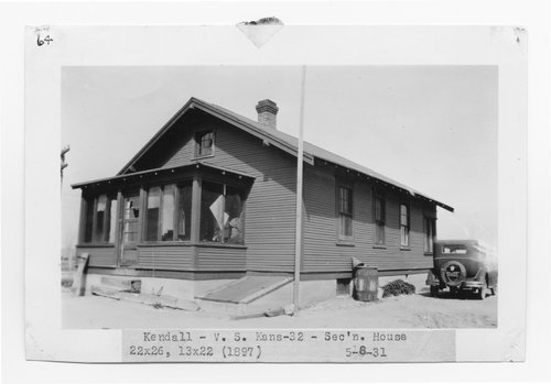 Atchison, Topeka & Santa Fe Railway Company section house, Kendall, Kansas - Page
