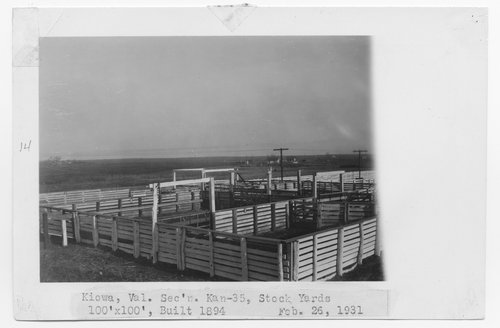 Atchison, Topeka & Santa Fe Railway Company stockyards,  Kiowa, Kansas - Page