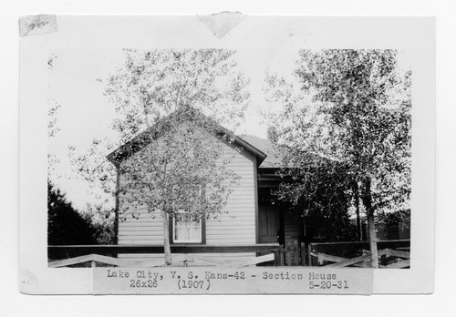 Atchison, Topeka & Santa Fe Railway Company section house, Lake City, Kansas - Page
