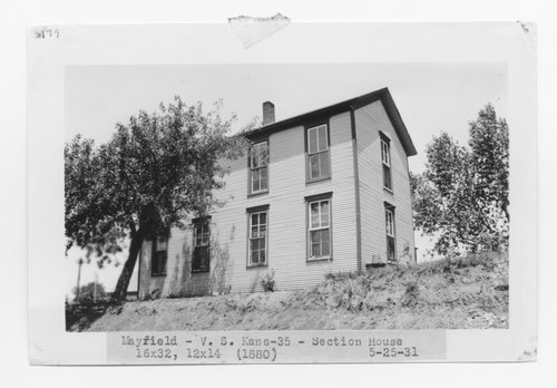 Atchison, Topeka & Santa Fe Railway Company section house, Mayfield, Kansas - Page