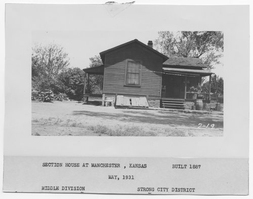 Atchison, Topeka & Santa Fe Railway Company section house, Manchester, Kansas - Page