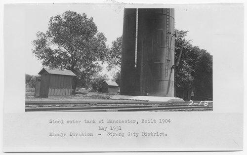 Atchison, Topeka & Santa Fe Railway Company water tank, Manchester, Kansas - Page