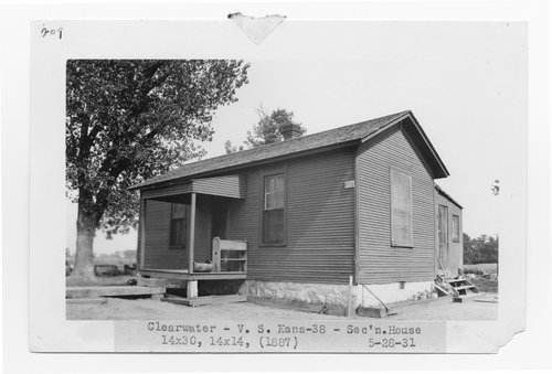 Atchison, Topeka & Santa Fe Railway Company section house, Clearwater, Kansas - Page