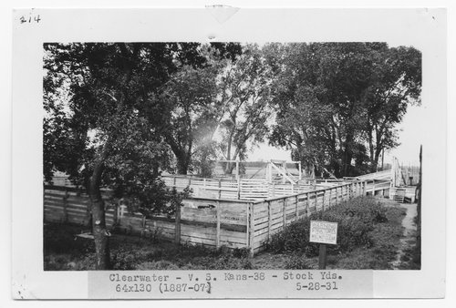 Atchison, Topeka & Santa Fe Railway Company stock yards, Clearwater, Kansas - Page