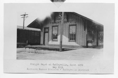 Atchison, Topeka & Santa Fe Railway Company's freight depot, Coffeyville, Kansas - Page