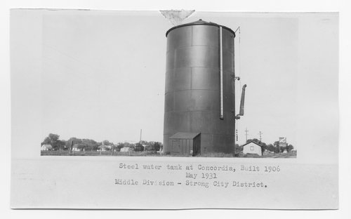 Atchison, Topeka & Santa Fe Railway Company's steel water tank, Concordia, Kansas - Page