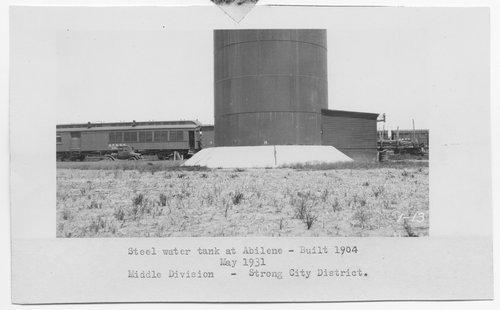 Atchison, Topeka & Santa Fe Railway Company water tank, Abilene, Kansas - Page