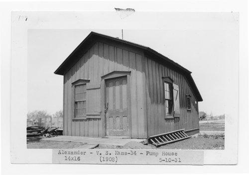 Atchison, Topeka & Santa Fe Railway Company pump house, Alexander, Kansas - Page