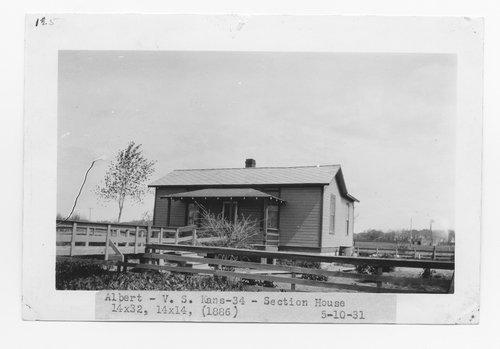 Atchison, Topeka & Santa Fe Railway Company section house, Albert, Kansas - Page