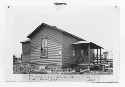 Atchison, Topeka & Santa Fe Railway Company section house, Alexander, Kansas - Page