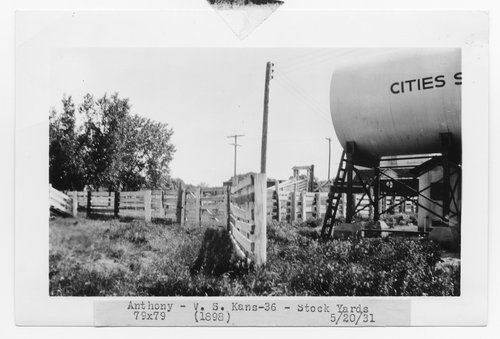 Atchison, Topeka & Santa Fe Railway Company stock yards, Anthony, Kansas - Page