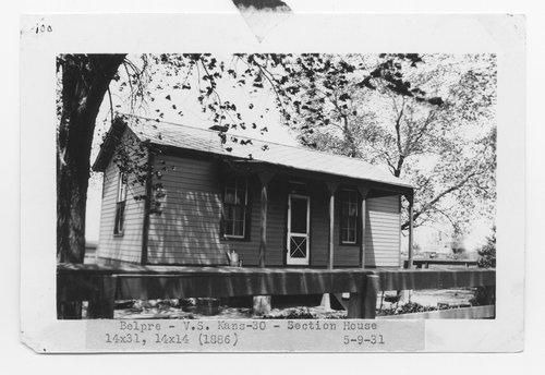 Atchison, Topeka & Santa Fe Railway Company section house, Belpre, Kansas - Page