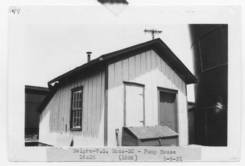Atchison, Topeka & Santa Fe Railway Company pump house, Belpre, Kansas - Page