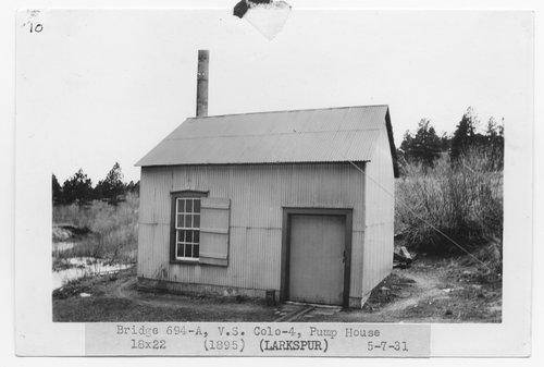 Atchison, Topeka & Santa Fe Railway Company pump house, Larkspur, Colorado - Page