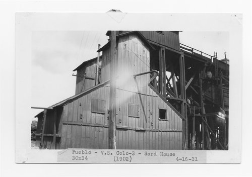 Atchison, Topeka & Santa Fe Railway Company sand house, Pueblo, Colorado - Page
