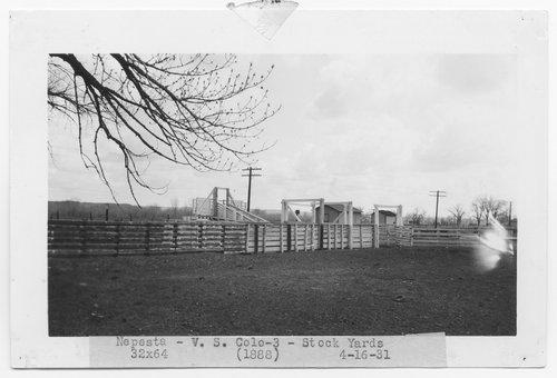 Atchison, Topeka & Santa Fe Railway Company stock yards, Nepesta, Colorado - Page