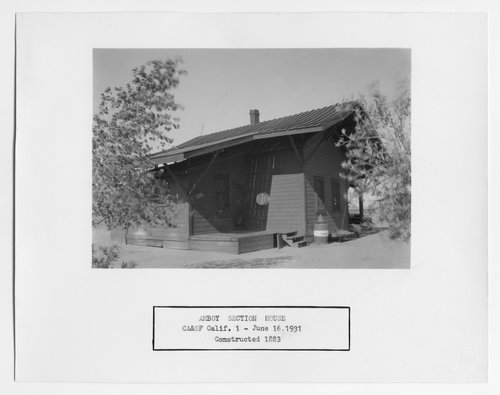 Atchison, Topeka & Santa Fe Railway Company section house, Amboy, California - Page