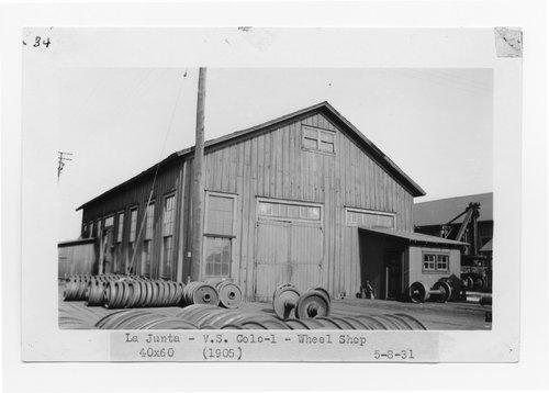 Atchison, Topeka & Santa Fe Railway Company wheel shop, La Junta, Colorado - Page