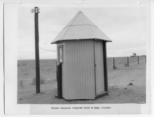 Atchison, Topeka & Santa Fe telephone booth, Ramp, Colorado - Page