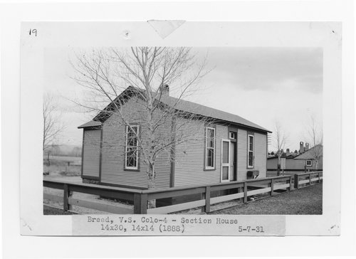 Atchison, Topeka & Santa Fe Railway Company section house, Breed, Colorado - Page