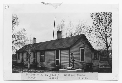 Atchison, Topeka & Santa Fe Railway Company section house, Buttes, Colorado - Page