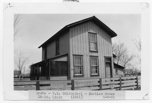 Atchison, Topeka & Santa Fe Railway Company section house, Grote, Colorado - Page