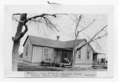 Atchison, Topeka & Santa Fe Railway Company section house, Fowler, Colorado - Page