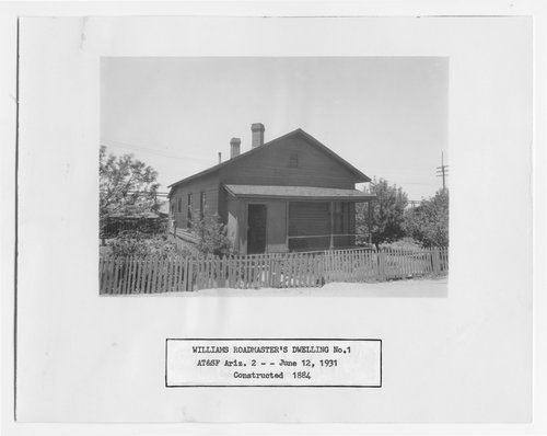 Atchison, Topeka & Santa Fe Railway Company's roadmaster dwelling, Williams, Arizona - Page