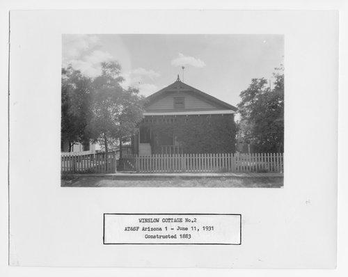 Atchison, Topeka & Santa Fe Railway Company cottage, Winslow, Arizona - Page