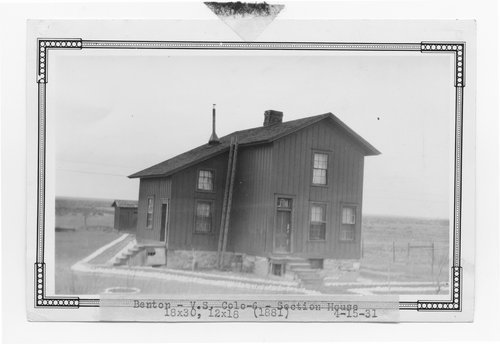 Atchison, Topeka & Santa Fe Railway Company section house, Benton, Colorado - Page