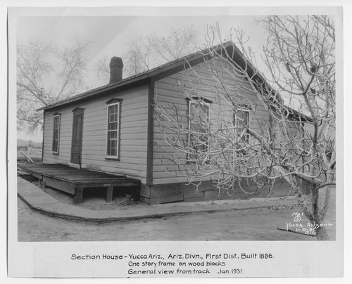 Atchison, Topeka & Santa Fe Railway Company section house, Yucca, Arizona - Page