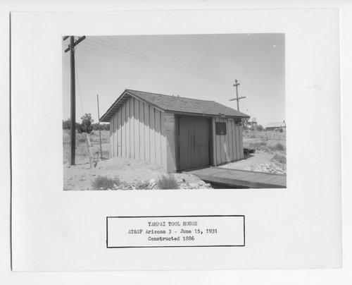 Atchison, Topeka & Santa Fe Railway Company tool house, Yampai, Arizona - Page