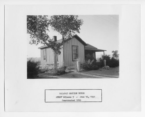 Atchison, Topeka & Santa Fe Railway Company section house, Walapai, Arizona - Page