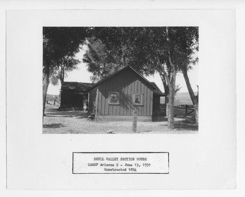 Atchison, Topeka & Santa Fe Railway Company section house, Skull Valley, Arizona - Page