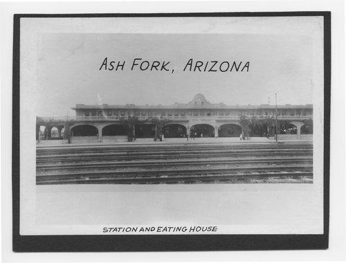 Atchison, Topeka and Santa Fe Railway Company depot and Fred Harvey House, Ash Fork, Arizona - Page
