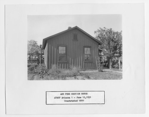 Atchison, Topeka and Santa Fe Railway Company section house, Ash Fork, Arizona - Page