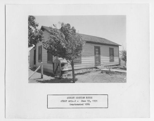 Atchison, Topeka and Santa Fe Railway Company section house, Audley, Arizona - Page