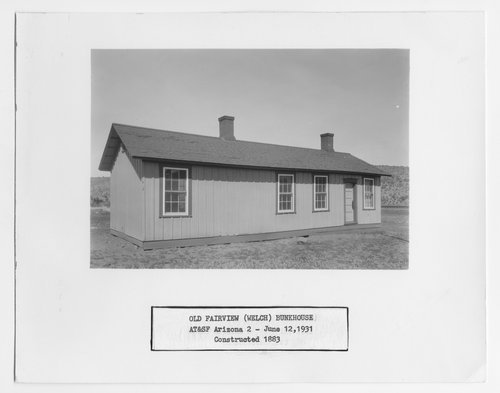Atchison, Topeka and Santa Fe Railway Company bunk house, Old Fairview (Welch), Arizona - Page