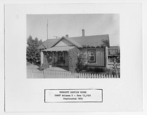 Atchison, Topeka and Santa Fe Railway Company section house, Prescott, Arizona - Page