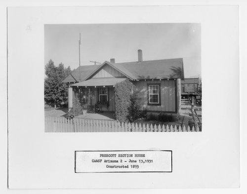 Atchison, Topeka and Santa Fe Railway Company section house, Prescott, Arizona - Page