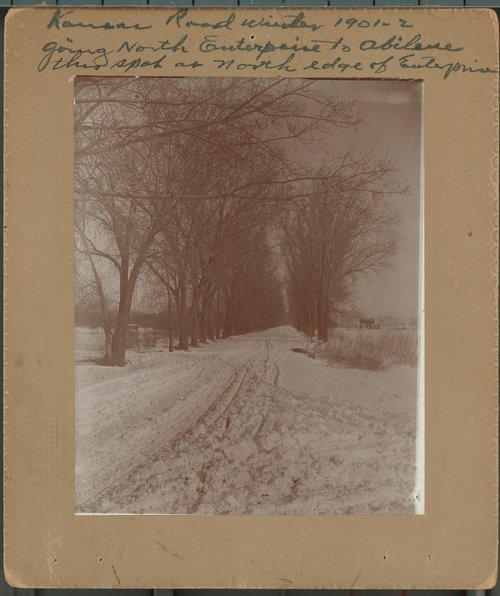 Snow covered road, Enterprise, Kansas - Page
