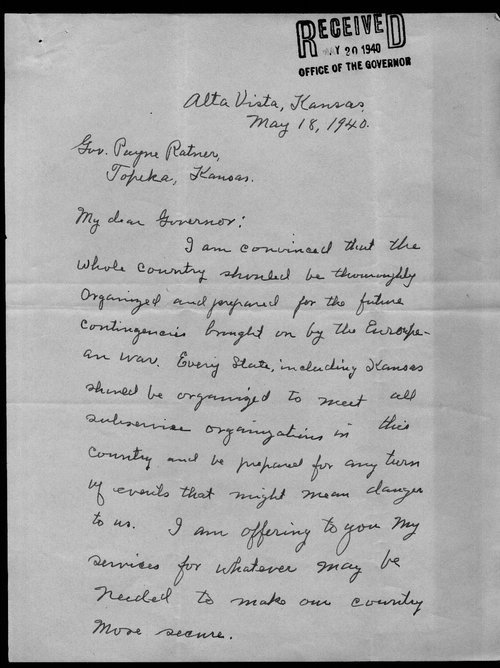 Edgar Nunally to Governor Payne Ratner - Page