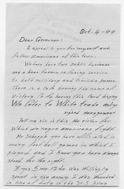 Coral Bell to Governor Andrew Schoeppel - Page