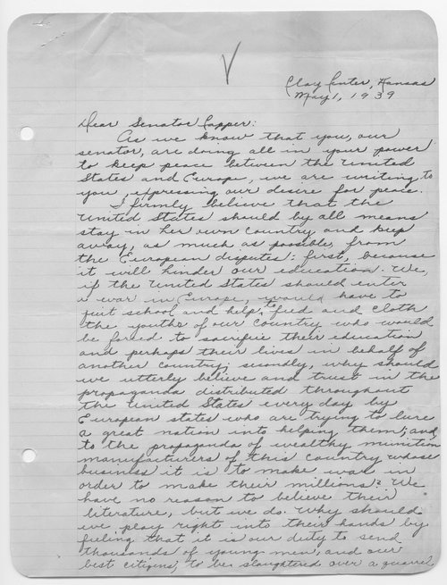 Marcile Davis to Senator Arthur Capper - Page